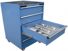 Mold trolley and set of tools for maintenance