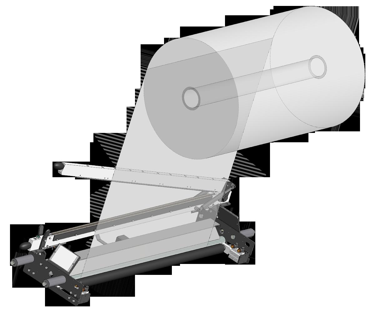 ZF010014 - Rolo de bloqueio de filme para mudança de bobina